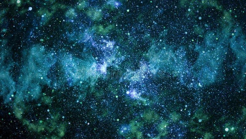 Stjärnklar yttre rymdbakgrundstextur royaltyfria bilder