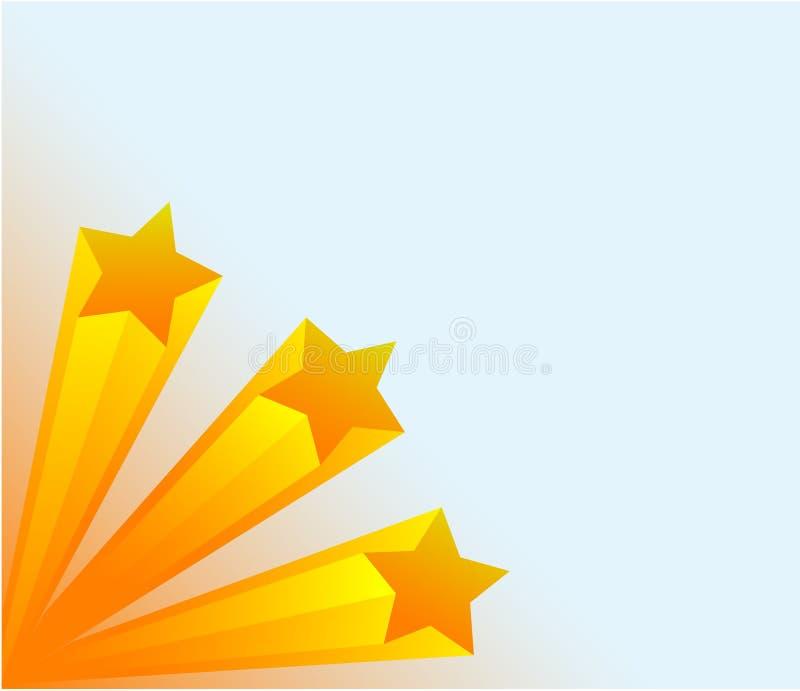 stjärnor 3d royaltyfri illustrationer