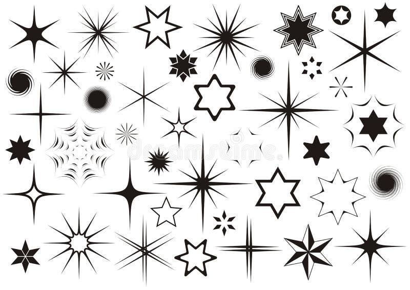 stjärnor royaltyfri illustrationer