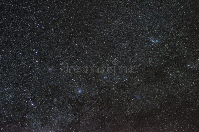Stjärnor av konstellationcassiopeia royaltyfri foto