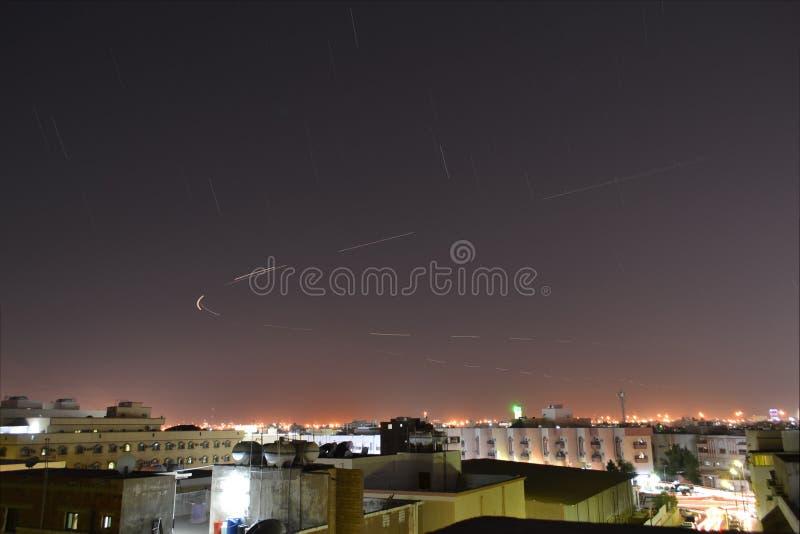 stjärnor för falljeddah natt fotografering för bildbyråer