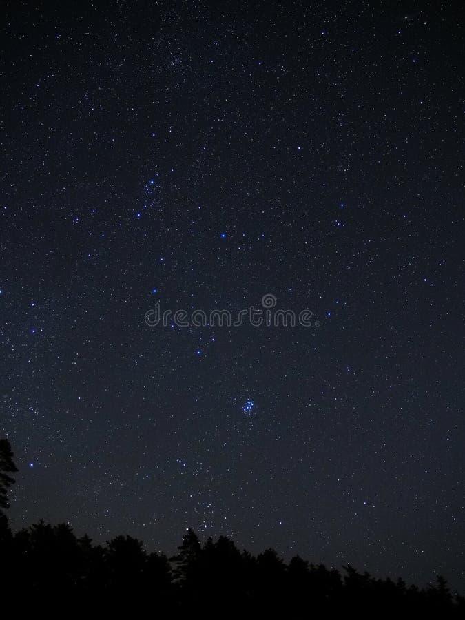Stjärnor för natthimmel arkivfoto
