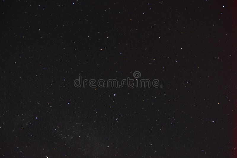 stjärnor för nattsky fotografering för bildbyråer