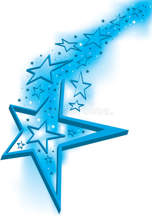stjärnor för stjärna för eps-port öppna royaltyfri illustrationer