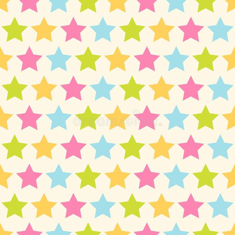 Stjärnor mönstrar royaltyfri illustrationer