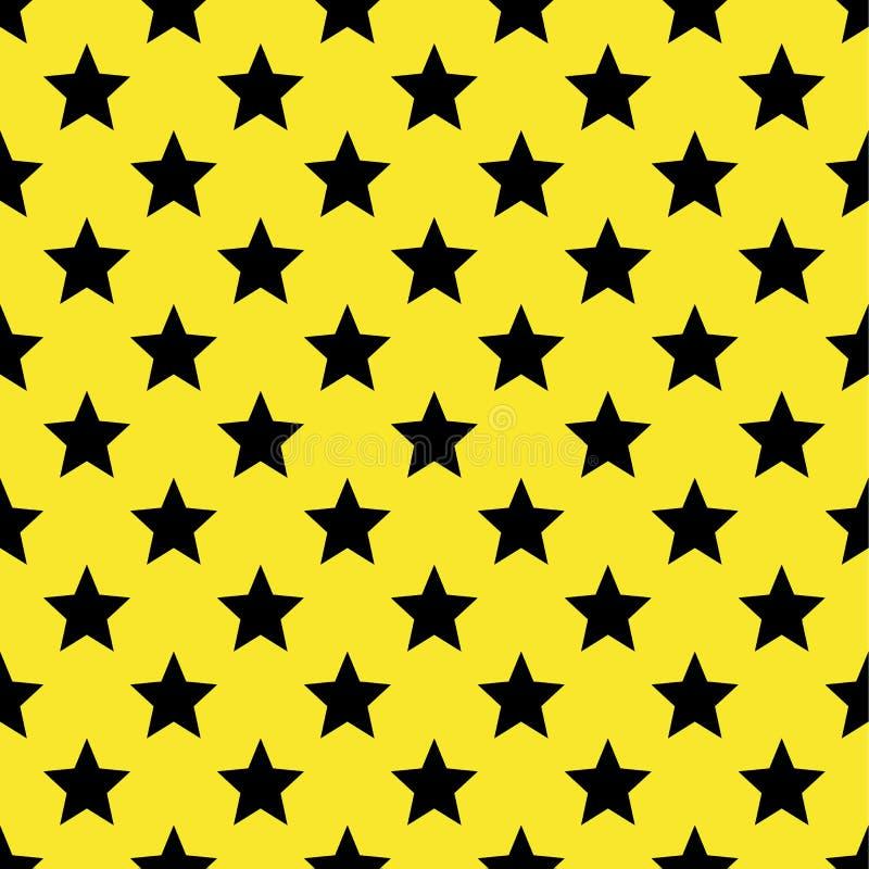 Stjärnor mönstrar seamless vektor för illustration Retro tappningbakgrund royaltyfri illustrationer