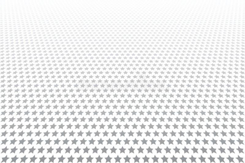Stjärnor mönstrar Vit texturerad bakgrund minska perspektiv royaltyfri illustrationer