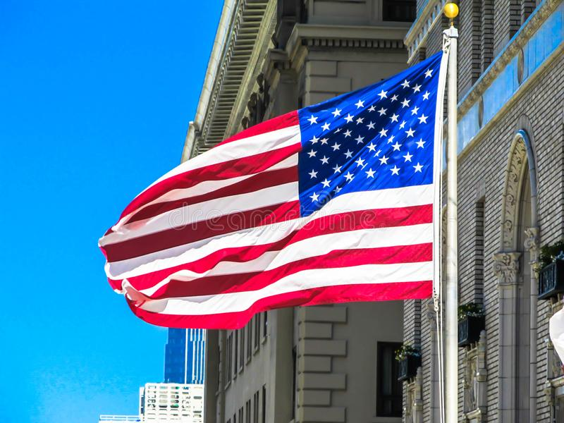 Stjärnor och band - USA flagga arkivbild