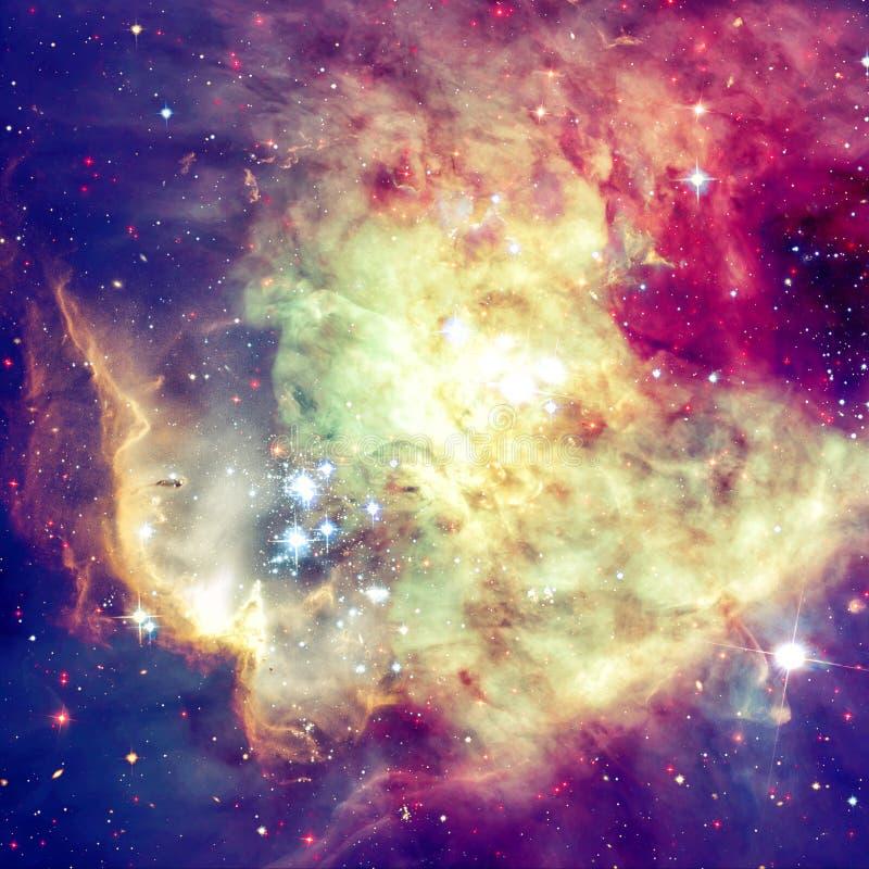 Stjärnor och galax i ett djupt utrymme arkivfoto