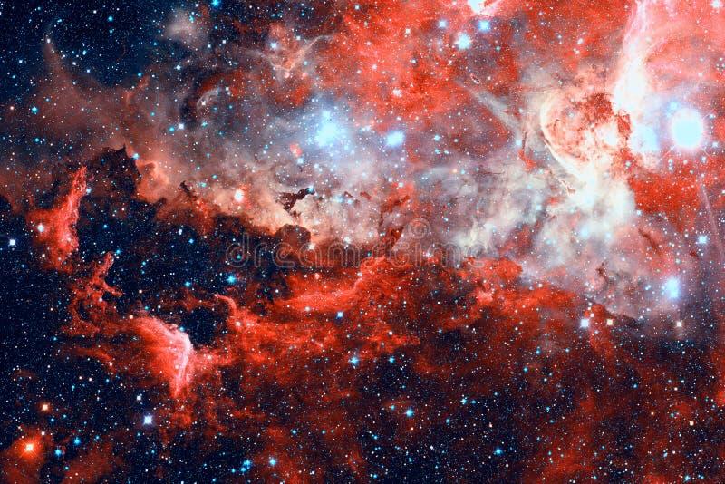 Stjärnor och galax i ett djupt utrymme arkivbild