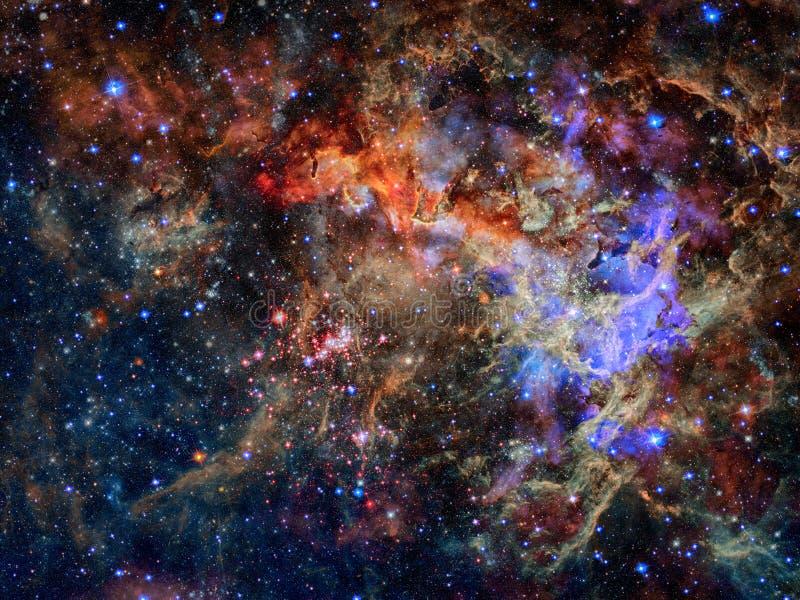 Stjärnor och galax i ett djupt utrymme fotografering för bildbyråer