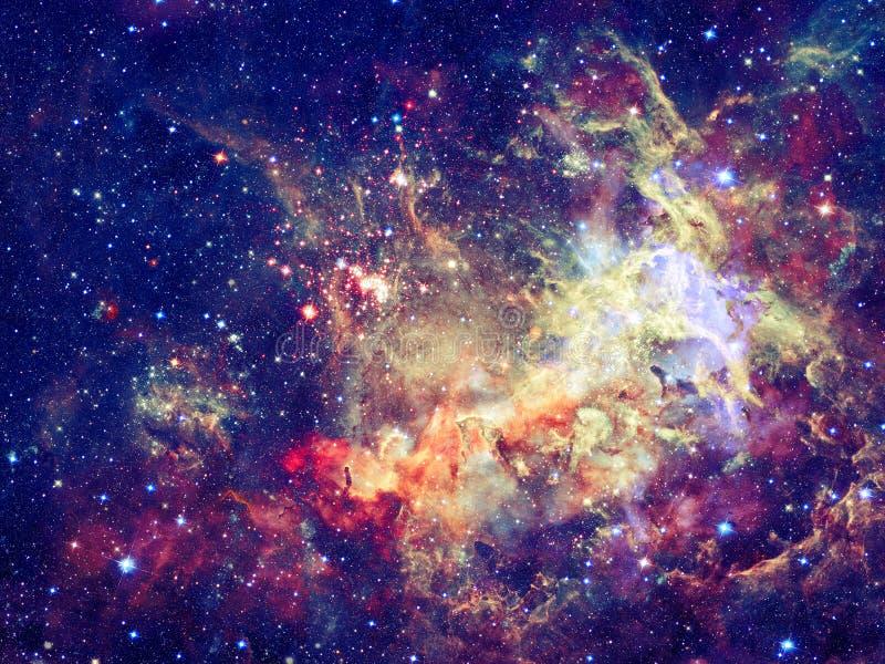 Stjärnor och galax i ett djupt utrymme royaltyfria foton