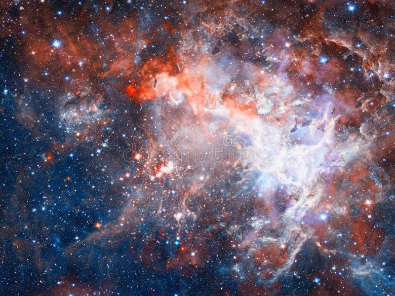 Stjärnor och galax i ett djupt utrymme royaltyfria bilder