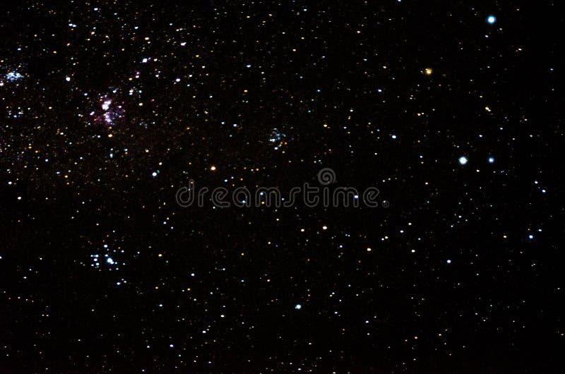 Stjärnor och galaxhimmel royaltyfria bilder