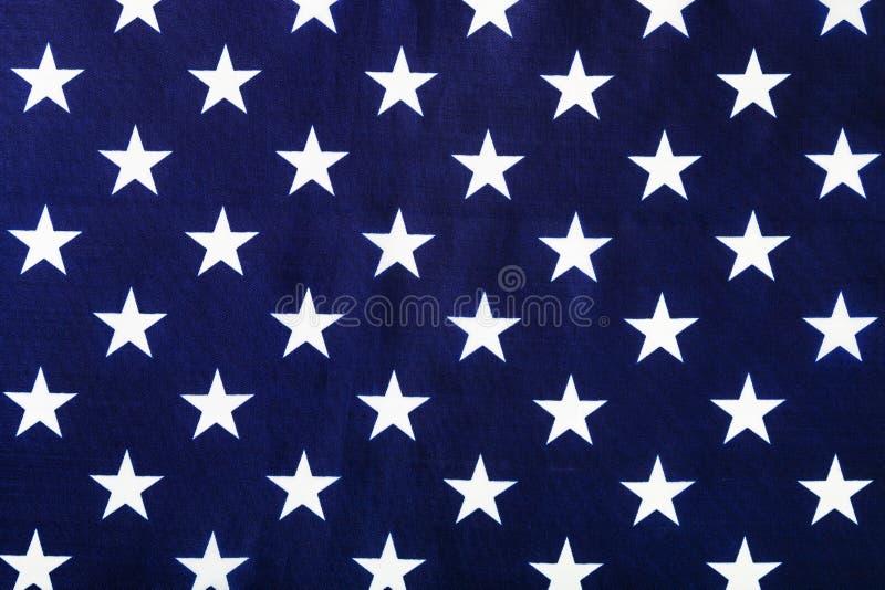 stjärnor på amerikanska flaggan fotografering för bildbyråer