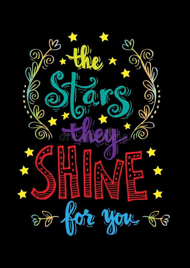 Stjärnorna som de skiner för dig royaltyfri illustrationer