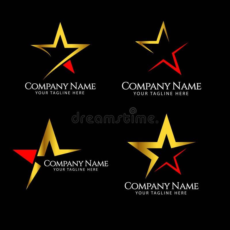 Stj?rna F?retag Logo Vector Template Design Illustration royaltyfri illustrationer