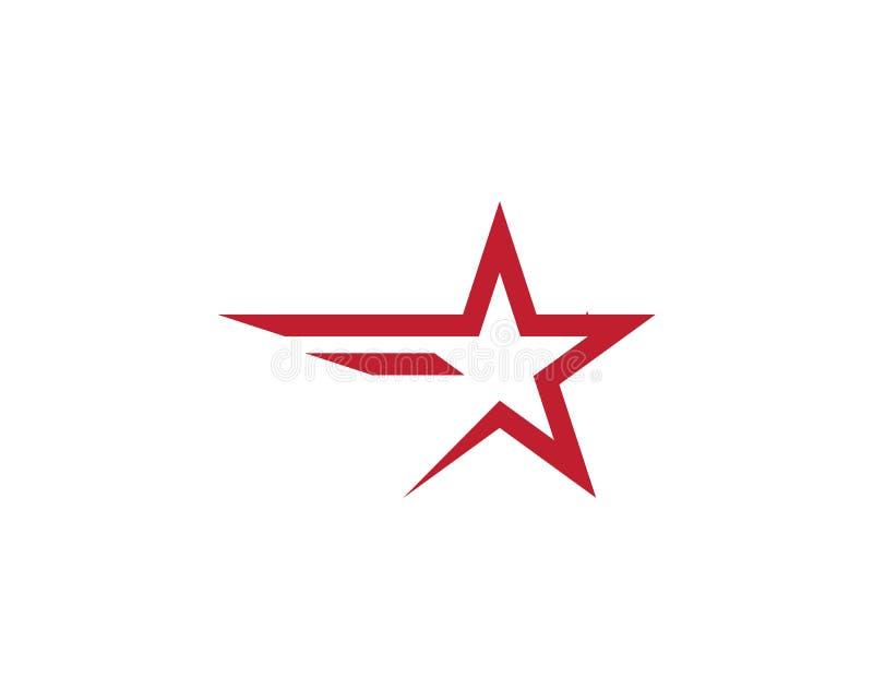 Stj?rna Logo Template royaltyfri illustrationer