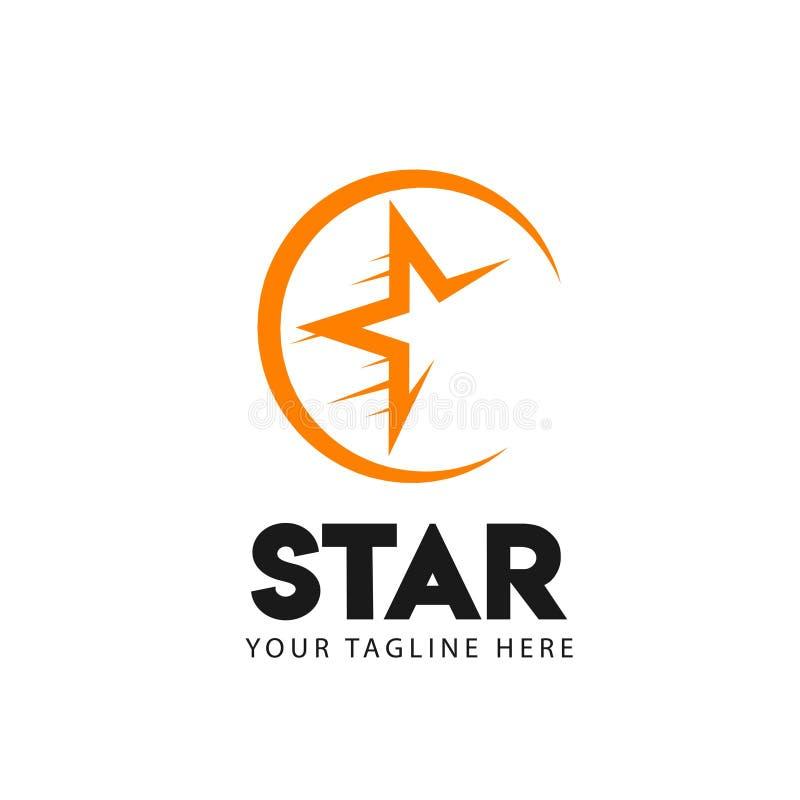 Stj?rna Logo Vector Template Design Illustration vektor illustrationer
