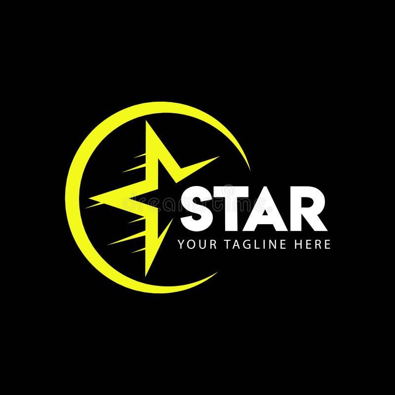 Stj?rna Logo Vector Template Design Illustration stock illustrationer