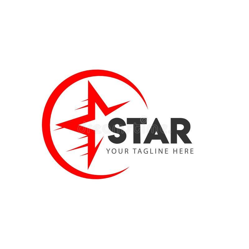 Stj?rna Logo Vector Template Design Illustration royaltyfri illustrationer