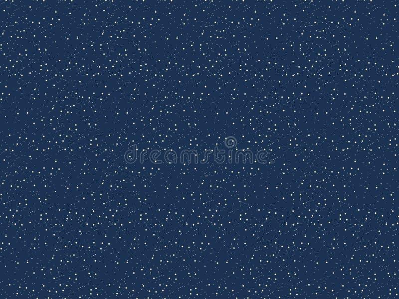 Stj?rnabakgrundsvektor Den seamless nattskyen m?nstrar Abstrakt kosmosutrymme vektor illustrationer