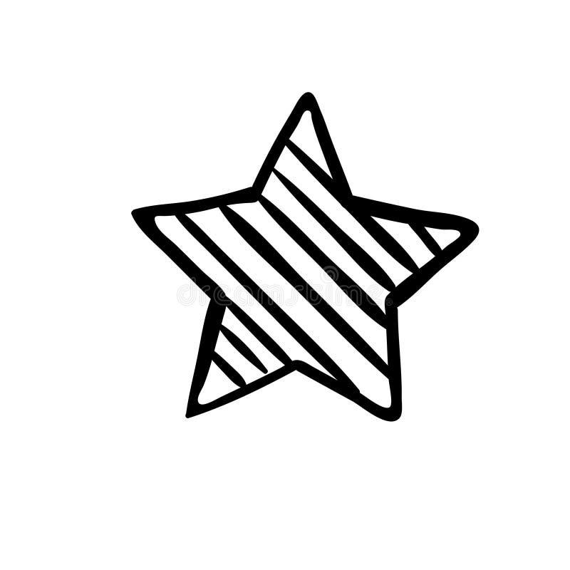 Stj?rnasymbolsvektor Klassa symbolet f?r reng?ringsdukdesignen - vektor stock illustrationer