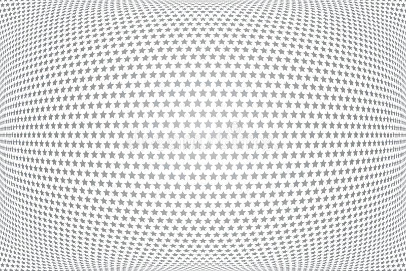 Stj?rnor m?nstrar illusion 3D E royaltyfri illustrationer