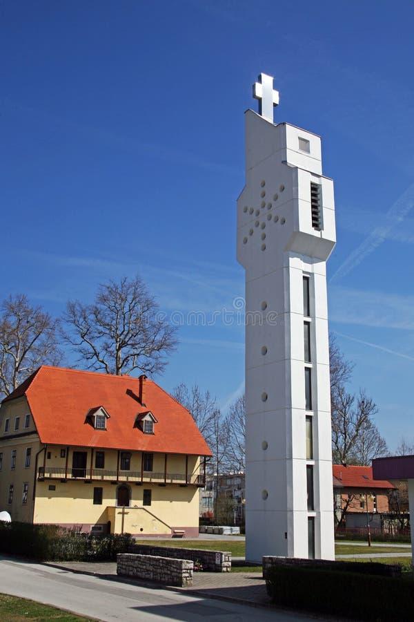 StJosip圣所在卡尔洛瓦茨,克罗地亚,欧洲 库存照片