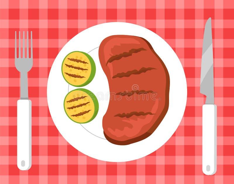 Stku i warzyw Pykniczna Wektorowa ilustracja ilustracji
