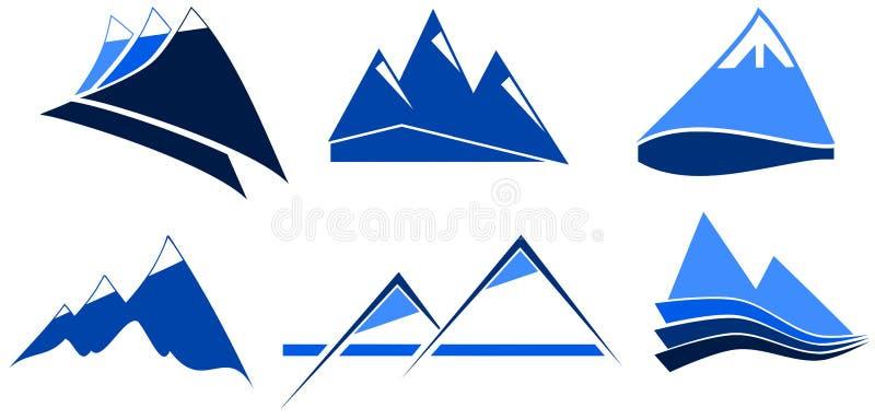 Stlizd góry w błękicie royalty ilustracja