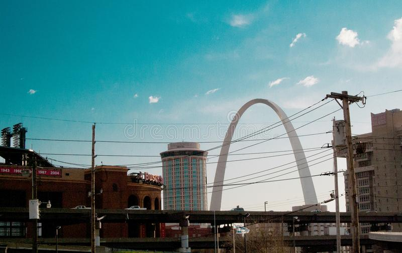 StLouis街道风景在密苏里,美国 免版税图库摄影