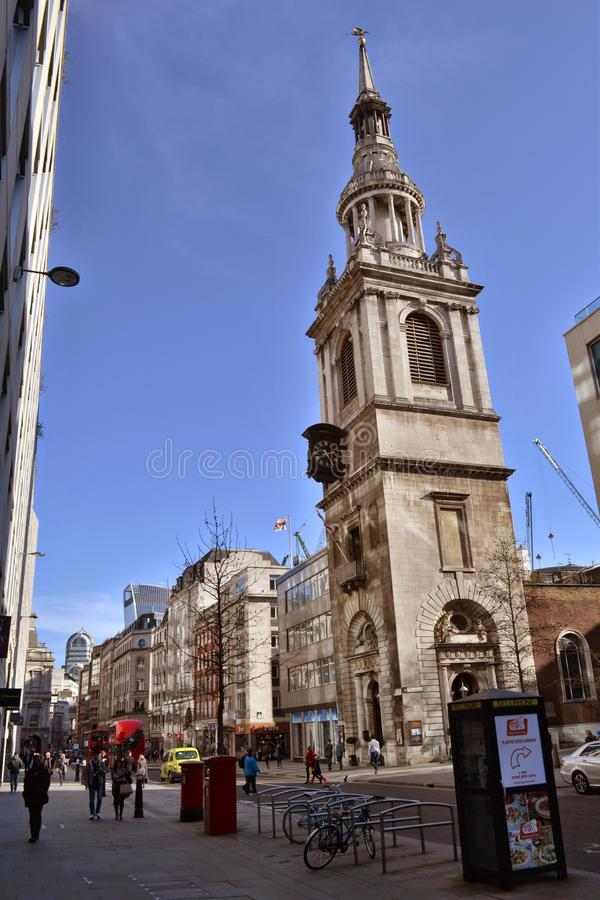 StMary-Le-arc Cheapside Londres photos stock