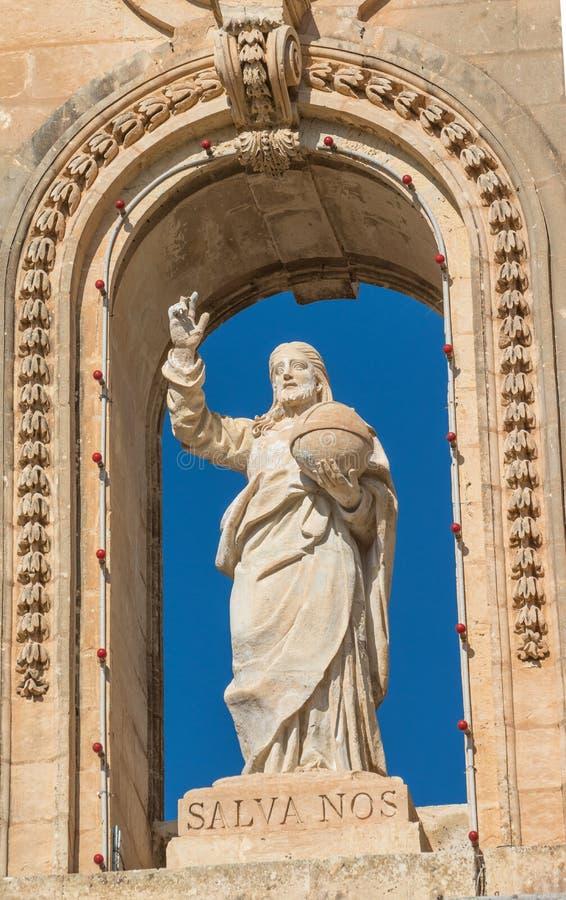 StNicholas kyrka, Siggiewi, Malta royaltyfri bild
