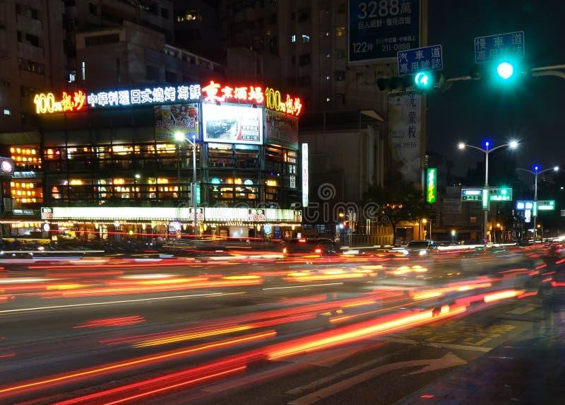 Stoßverkehr im Stadtzentrum lizenzfreies stockbild