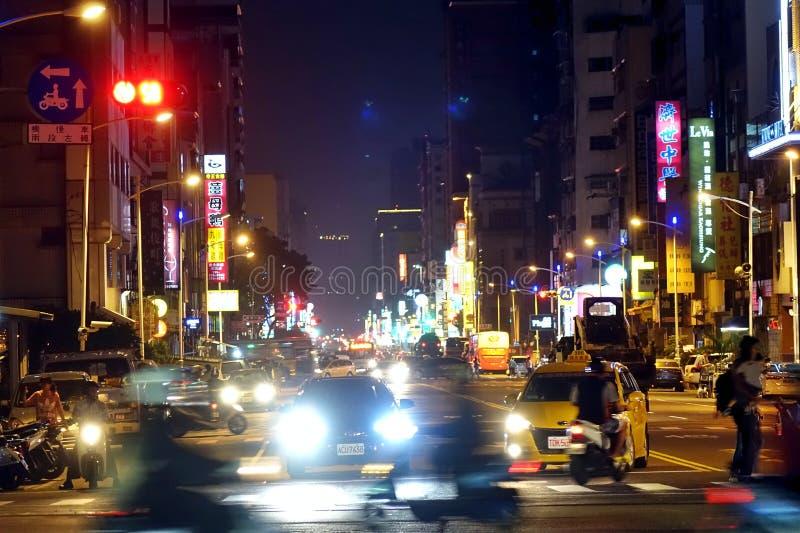 Stoßverkehr im Stadtzentrum lizenzfreie stockfotografie