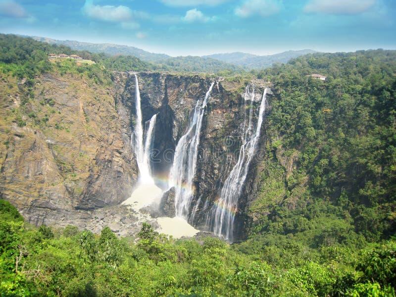 Stoßwasser fällt am shimoga, karnataka stockbilder