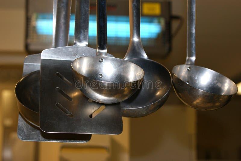 stołówkowa kuchnia używać naczynie fotografia stock