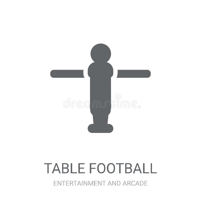 Stołowa Futbolowa ikona  ilustracji