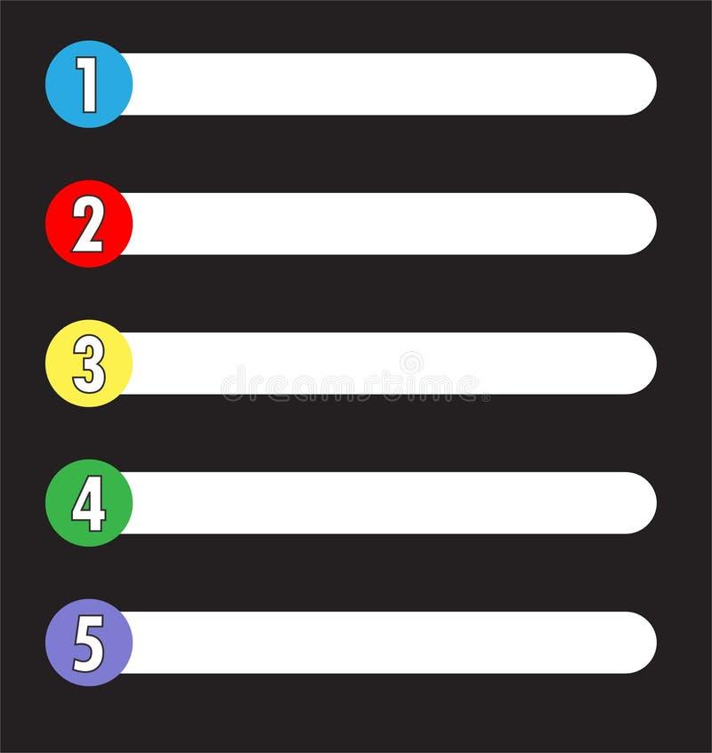 Stołowa zawartości kategorii ikona na czarnym tle Mieszkanie styl ilustracji