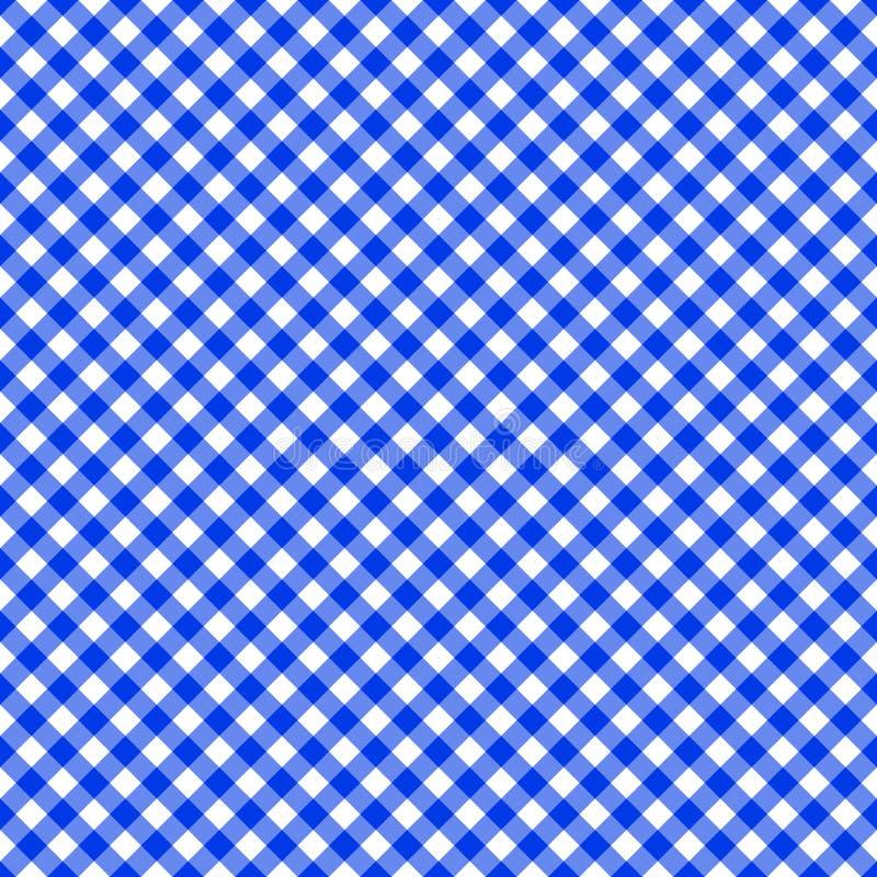 Stołowego płótna bezszwowy deseniowy błękit ilustracja wektor