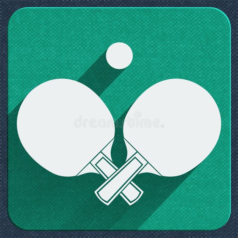 Stołowego tenisa ikona ilustracja wektor