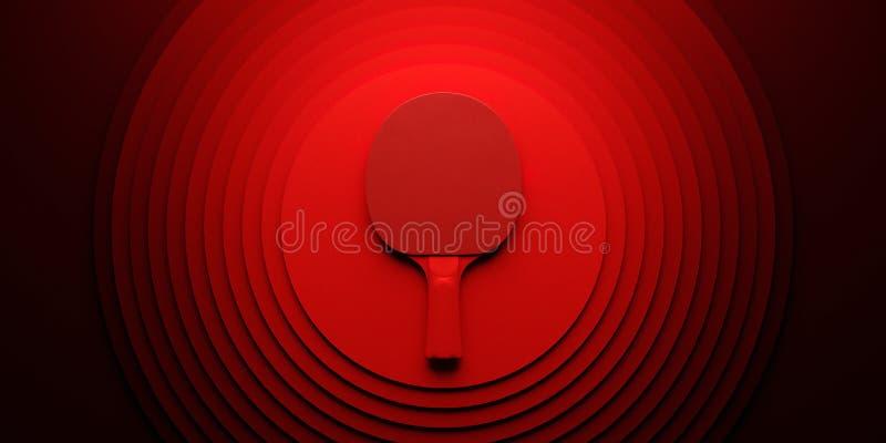 Stołowego tenisa lub śwista pong kant turnieju plakatowy projekt na abstrakcjonistycznej kolorów okregów backgroung 3d ilustraci ilustracji