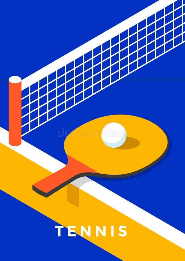 Stołowego tenisa plakatowy projekt royalty ilustracja