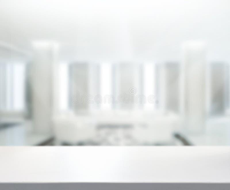 Stołowego wierzchołka I plamy biura tło zdjęcie royalty free