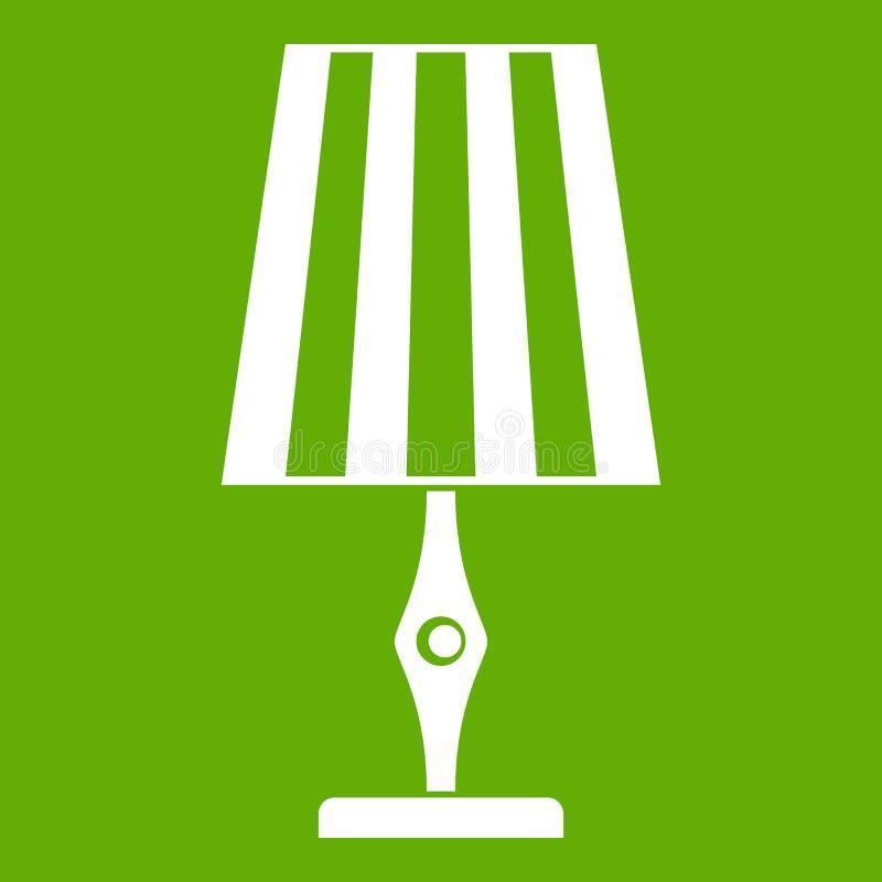Stołowej lampy ikony zieleń royalty ilustracja
