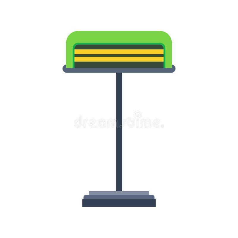Stołowej lampy symbolu wektoru jaskrawa stylowa elektryczna ikona Salowy wyposażenia loft wnętrza światło Meblarski wezgłowie ilustracja wektor