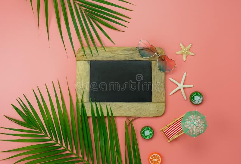 Stołowi odgórnego widoku produkty spożywczy podróż wakacje & wakacje letni tła pojęcie fotografia stock