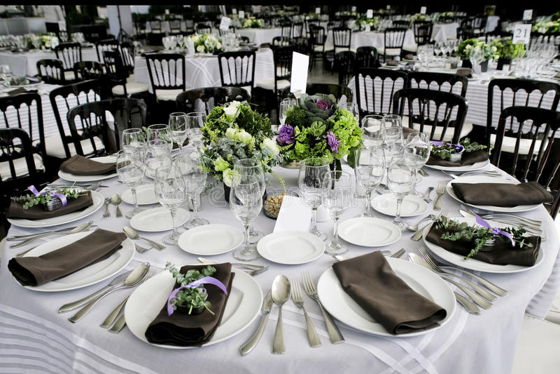 stołowy ślub obrazy stock