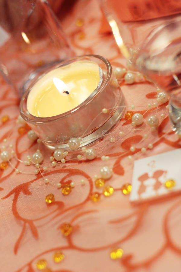 stołowy świeczka ślub fotografia stock